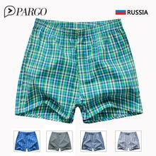 Men's Underwear men Boxers Shorts Cotton Underpants Male Brands clothing Plaid Loose Home Panties 3XL