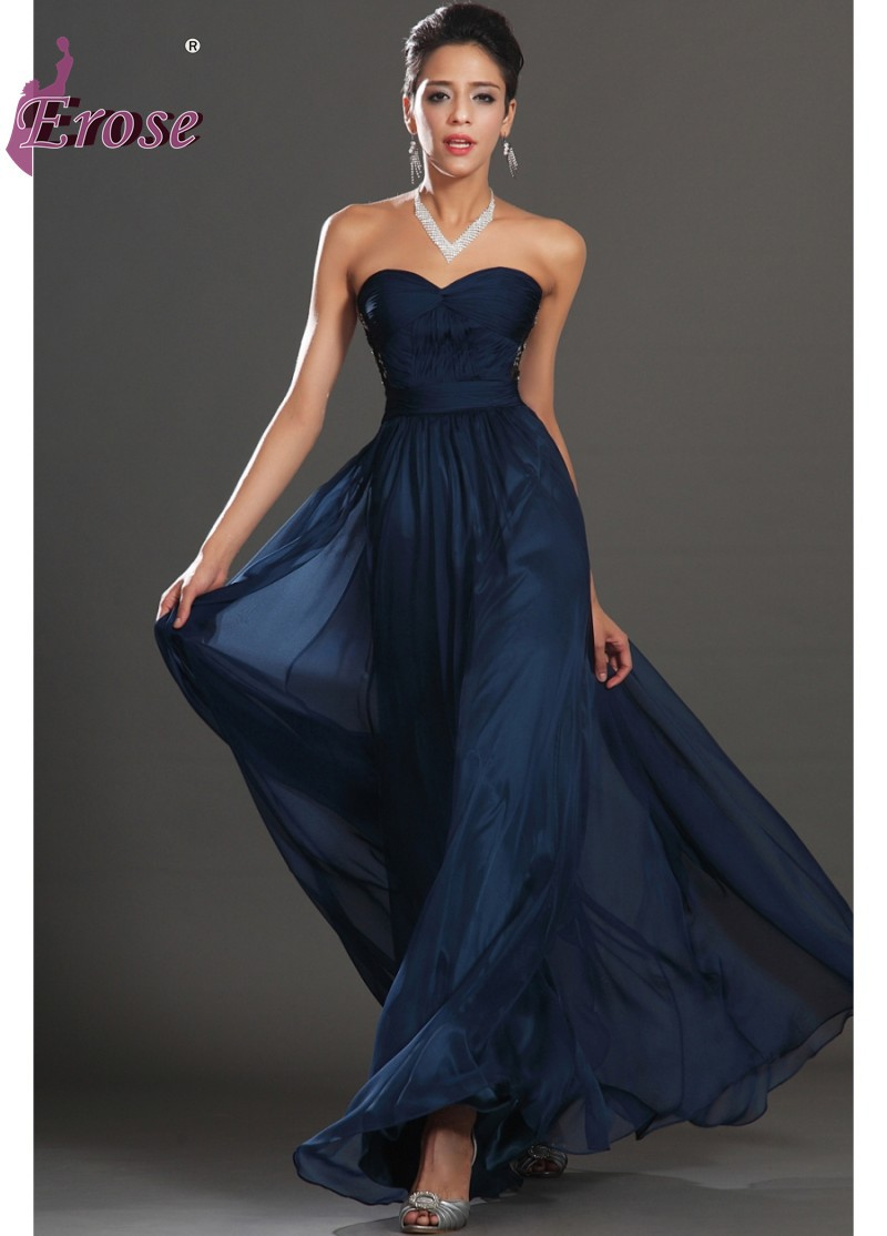 Wedding Navy Blue Formal Dress online get cheap navy blue maxi prom dress aliexpress com ade 046 free shipping simple fashion sweetheart pleated chiffon long evening gown 2016
