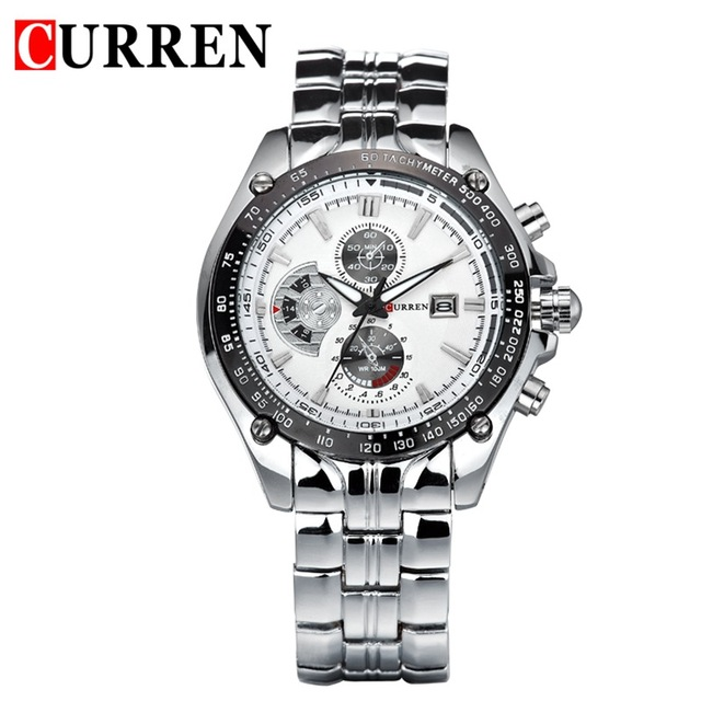 CURREN Men Business Casual Watch Stainless Steel Wristwatches watch men Auto Date analog steel reloj 8083