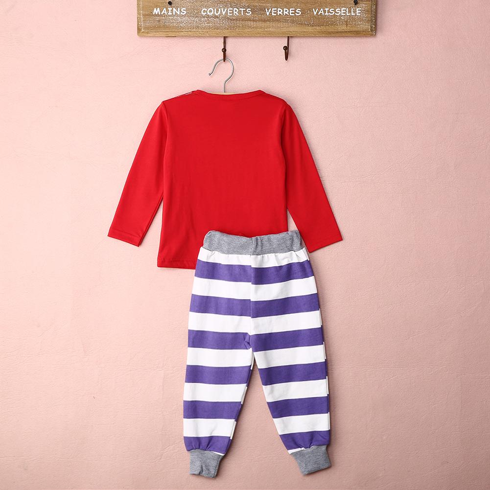 New Children Baby Kids Girls Boys Long Sleeve Nightwear Pajamas Set Sleepwear Suit 0-4Y Wholesale