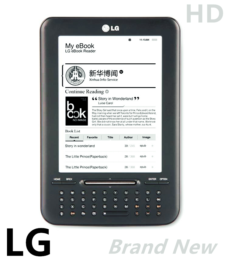 New L G Pearl eink screen 6 inch ebook reader FB2 ,russian,e-book,electronic,have kindle kobo in shop ,e book,e-ink,reader(China (Mainland))
