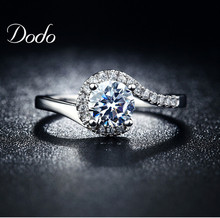 unique product CZ diamond silver plated vintage crown rings for women wedding accessories shine natural crystal jewelry DR049