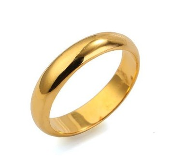 Free Shipping!!! Quality Men's and Women's 24K Real Gold Plated Fashion Ring, Size 7 / 8 / 9 / 10, Come With A Ring Box! (0361)