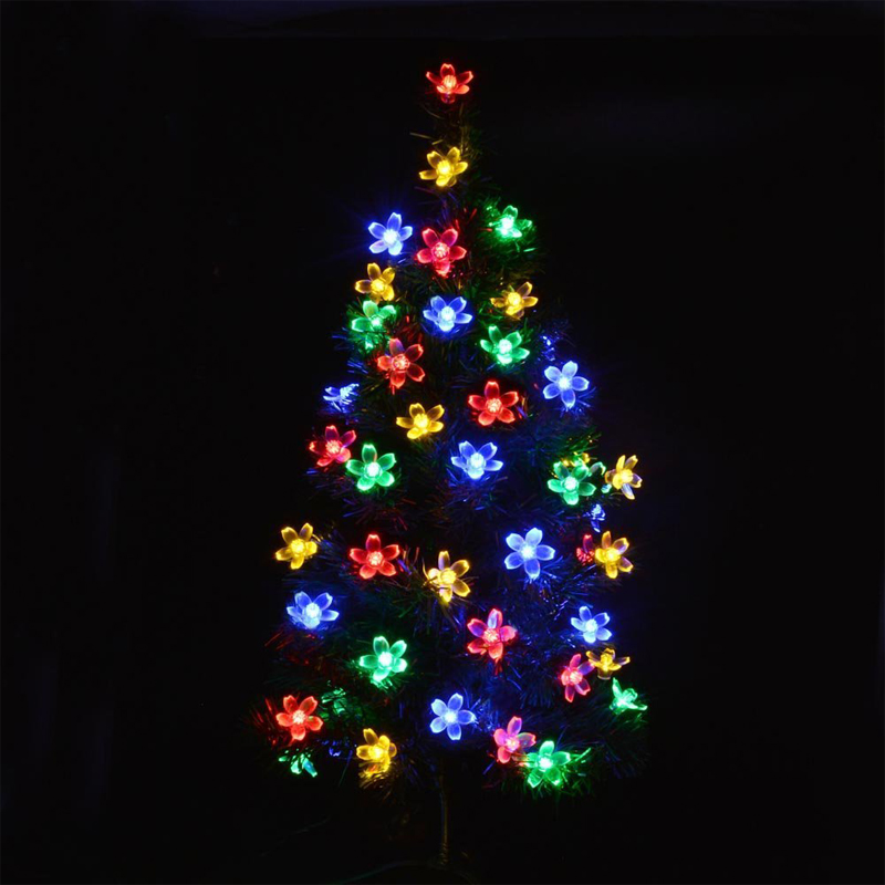 Lamps 6m 30leds colorful flower blossom outdoor waterproof solar solar lamps 6m 30leds colorful flower blossom outdoor waterproof solar garden light fairy christmas decoration string lighting mozeypictures Images