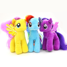 19cm Minecraft My Cute Lovely Little Horse Plush Toys PP Cotton Poni Doll Toys for Children Toys Colorful Rainbow Color Horse(China (Mainland))