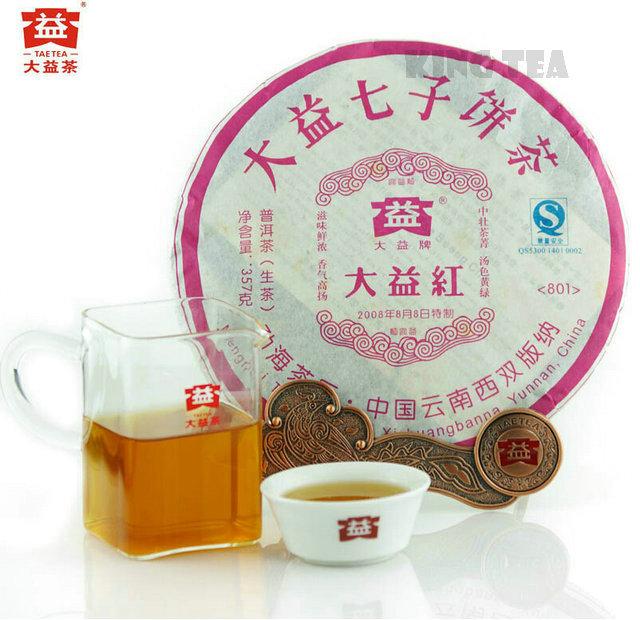 Здесь можно купить  2008 TAE TEA Dayi Red Beeng Bing Cake 357g Pu