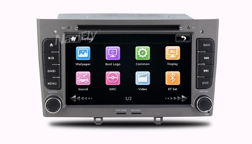 Купить 2 Din Емкостный Экран автомобильный Мультимедийный Автомобильный DVD Стерео головного устройства Навигация Для peugeot 408/308 С BT радио GPS бесплатная доставка