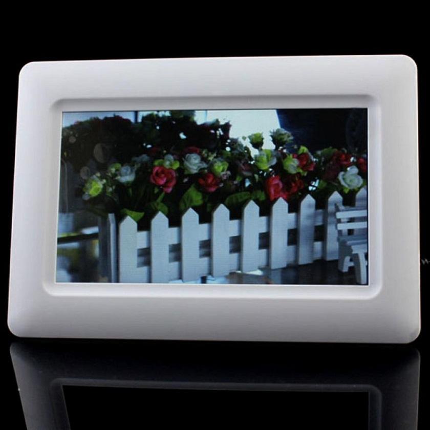 Adroit New 7 TFT LCD Digital Photo Frame Alarm Clock Support U SD MMC MS USB White MAR4<br><br>Aliexpress