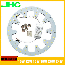 10W 12W 15W 18W 20W 24W LED Panel Light board SMD 5730/5630 LED Round Ceiling board circular lamp board + power driver+magnetic