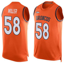 2016 Newstyle Fashion Broncos Summer Must Haves Men's Von Miller Orange Demaryius Thomas Player Name Denver Sports Tank Top(China (Mainland))