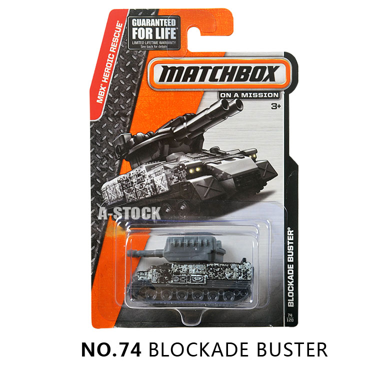 Matchbox MBX Heroic Rescue Model Car BLOCKADE BUSTER Tank Metal and Plastic Car Classical Children Toys Kids Gift for Collection(China (Mainland))