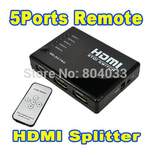 HDMI True Matrix 3 / 5 Port HDMI Switch Switcher HDMI Splitter Hub Box for PS3 Xbox 360 HDTV DVD with IR Wireless Remote(China (Mainland))