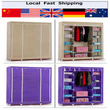 1Pcs Canvas Scroll Wardrobe With Hanging Rail Home Furniture Bedroom Clothes Storage Cabinet 16 mm Thickness Steel Tubes (China (Mainland))