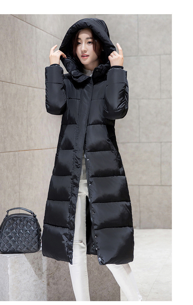 Winter Long Down Cotton Coat Clothing women's cotton coat knee-length extension of thicker down jacket cotton-padded jacket  16