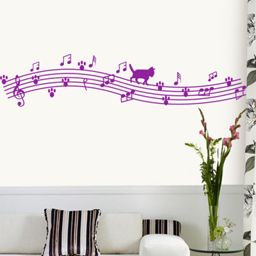 Eva wall stickers notes music child real wall painting duomaomao(China (Mainland))