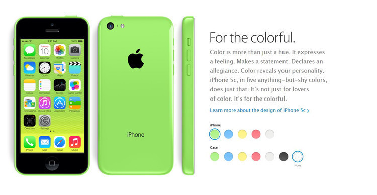 Factory Unlocked Original iPhone 5C GSM IOS 16GB/32GB storage Dual Core 4.0 inch Screen GPS WIFI Used Cell Phones Free shipping