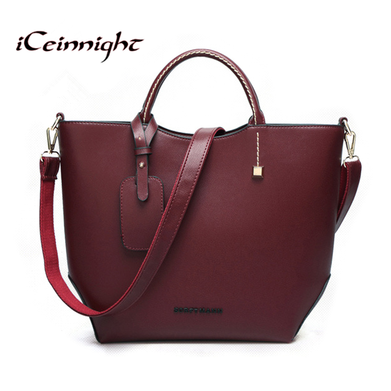 European style woman bags 2016 bag handbag fashion handbags wine red orange women messenger bags famous brand bucket leather bag(China (Mainland))