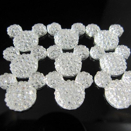 Free shipping 1000pcs 13x15mm resin rhinestones mickey shaped pendant beads<br><br>Aliexpress