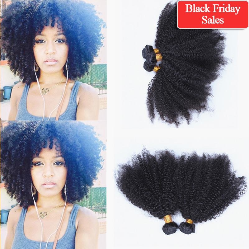 Free shipping Mongolian kinky curly hair extensions 5A Mongolian virgin hair afro kinky curly hair 4~6pcs/lot natural black