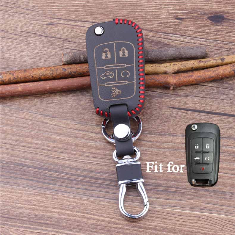 hand made key cover For Buick Lacrosse GL8 5 buttons folding car key case(China (Mainland))
