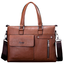 NEW Famous Designer Jeep Famous Brands Men Business Briefcase Leather Shoulder Bags For 14 Inch Laptop Bag big Travel Handbags(China (Mainland))