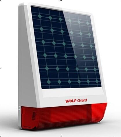 Оптом !!!Солнечных батареях открытый беспроводная сирена для GSM сигнализация