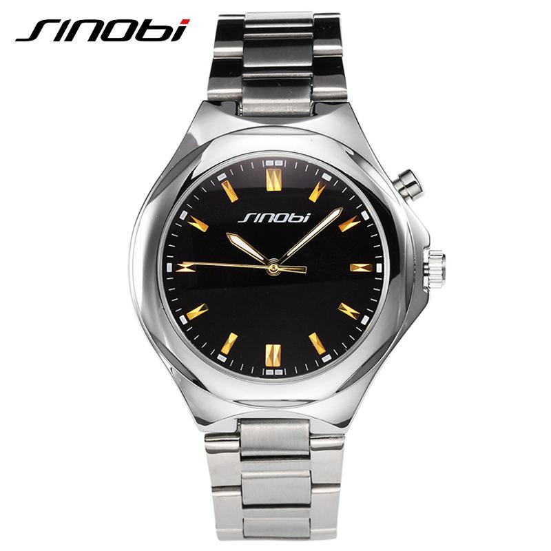 SINOBI Casual Outdoor Top Brand The Men Watches Business Office New Design Watch For Men Luxury Family Erkek Kol Saati