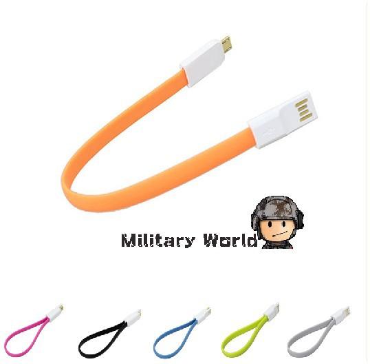 2pcs/lot Original Soshine Magnetic Flat Micro USB Male to USB 2.0 Travel Kits Data Sync Charging Cable 20cm Data Cable Freeship(China (Mainland))