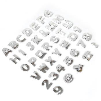 3D Car DIY Metallic Alphabet letter Number Symbol Emblem Badge Decals stickers For Audi Mercedes Nissan VW Ford Toyota Honda Kia