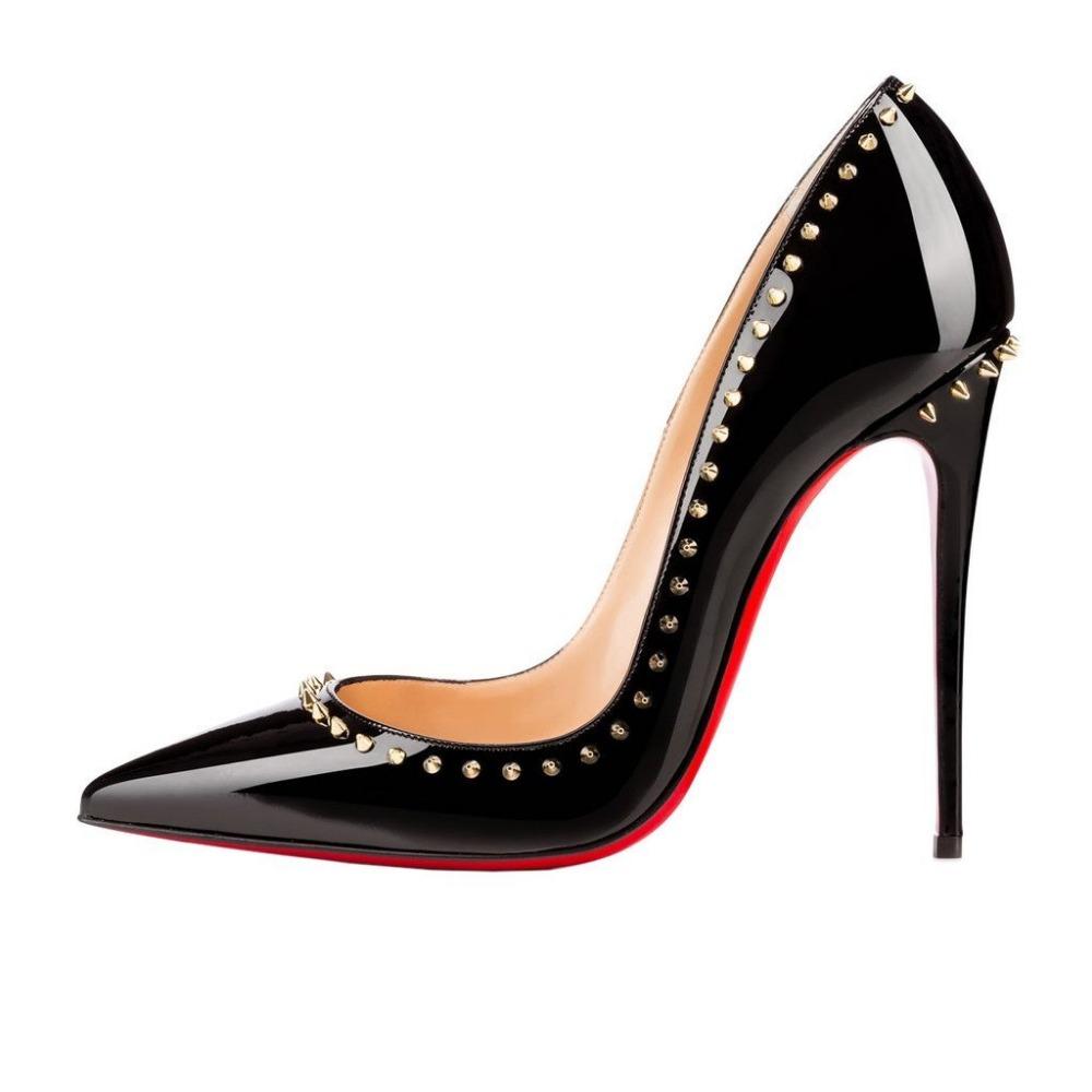 Aliexpress.com : Buy Jushee Women\u0026#39;s Spring Autumn Rivets Stiletto ...