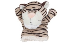 Free shipping 23cm special anime nici tiger story hand puppet sleep plush forest animal doll stuffed pacify toy baby gift 1 pc(China (Mainland))