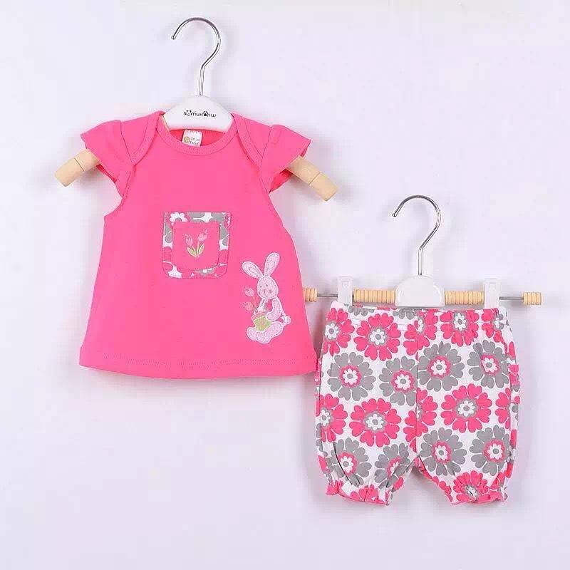 2016 New Fashion Baby Clothing Set Baby Girl Sets t shirt + pant Newborn bebe Spring Summer Clothes(China (Mainland))