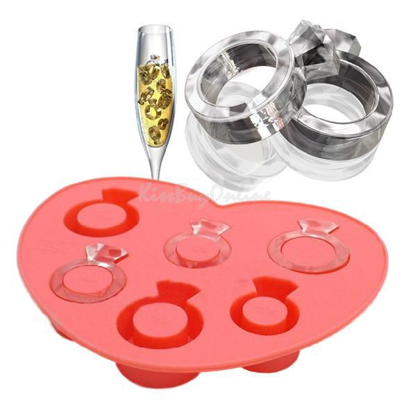 Ice Tray Diamond Love Ring Ice Cube Style Freeze Ice Mold Ice Maker Mould PTSP(China (Mainland))