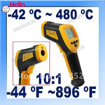 HOT SELL/Non-Contact Laser Infrared Digital IR Thermometer LCD with Back Light DT-480 free shopping 24