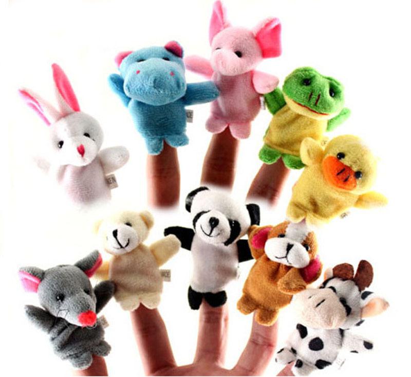 product 2 pcs boneka jari keluarga Boneka kain Bayi pendidikan Mainan tangan Cerita anak boneka jari Mewah Story Telling boneka An