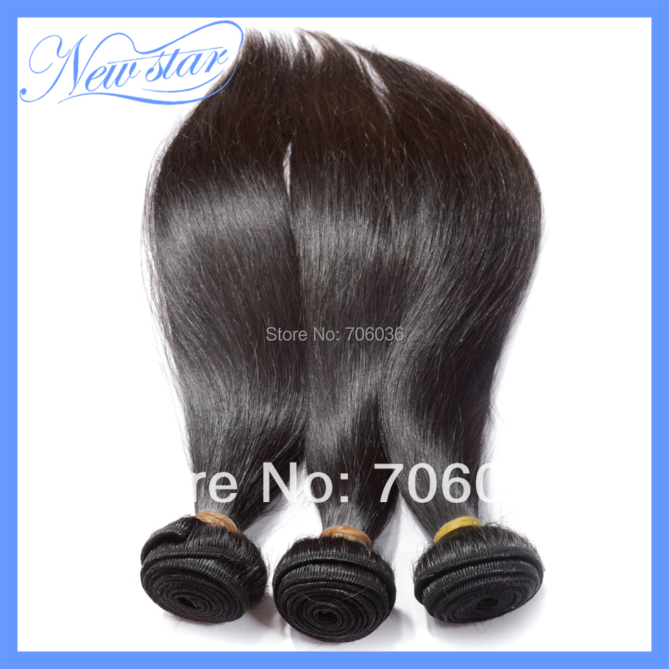 new star hair products 3 full bundles lot brazilian virgin human hair straight ,100% Unprocessed human hair with cuticle intact(China (Mainland))