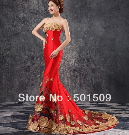 Floral Mermaid Prom Dress