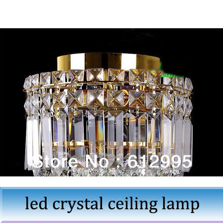 1pc gold LED Aisle crystal ceiling lamp chandelier light decoration lighting<br><br>Aliexpress