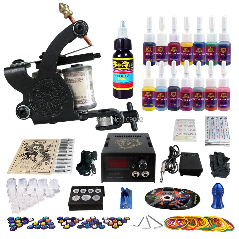 Solong tattoo complete tattoo kit 1 pro rotary machine for Tattoo kit rotary