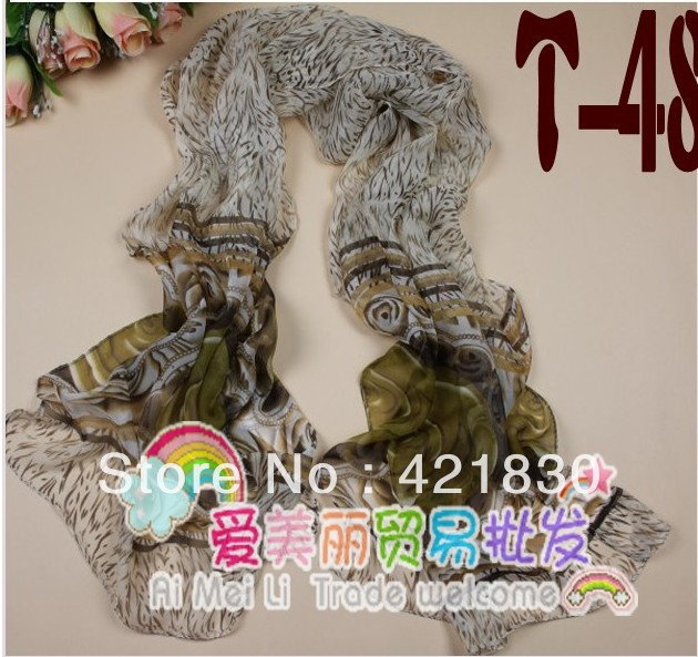 160*50 SPRING AND AUTUMN SILK BROWN COLOR WOMEN LONG SCARF(China (Mainland))