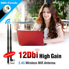 RP-SMA 2.4 GHz 17dBi WIFI Booster Wireless Antenna WLAN For PCI USB Modem Router(China (Mainland))