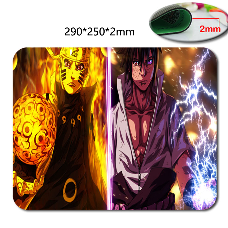 290*250*2mm Cartoon naruto Background pattern soft Speed Game Animation Computer Silica gel Rectangular Mouse Mat Mices Pads(China (Mainland))