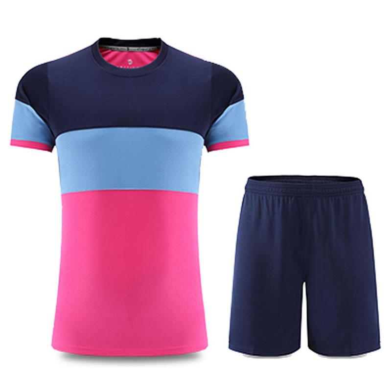 New Mens Football Jerseys Custom Soccer Set Jerseys Kits Boys Football Training Jerseys Anti-Wrinkle Breathable Sports Uniforms(China (Mainland))