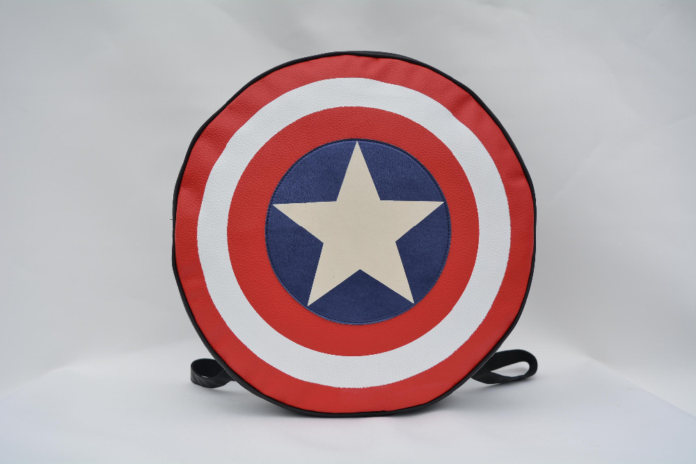 2015 preppy style teenager school bag fashion star America Shield and American Captain women casual backpack in small version
