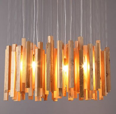 American country Creative Design Wooden Pendant Lamp Art Deco Pastoral Style hanging Light with The Base of E27 for cafe bar(China (Mainland))