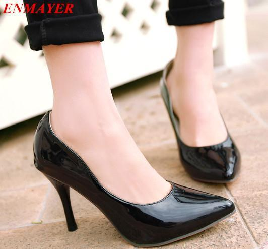 ENMAYE 2015 newmen pumps Closed Toe Pointed Toe Thin Heels Platform pumps sexy fashion Spring / Autumn shoes pumps