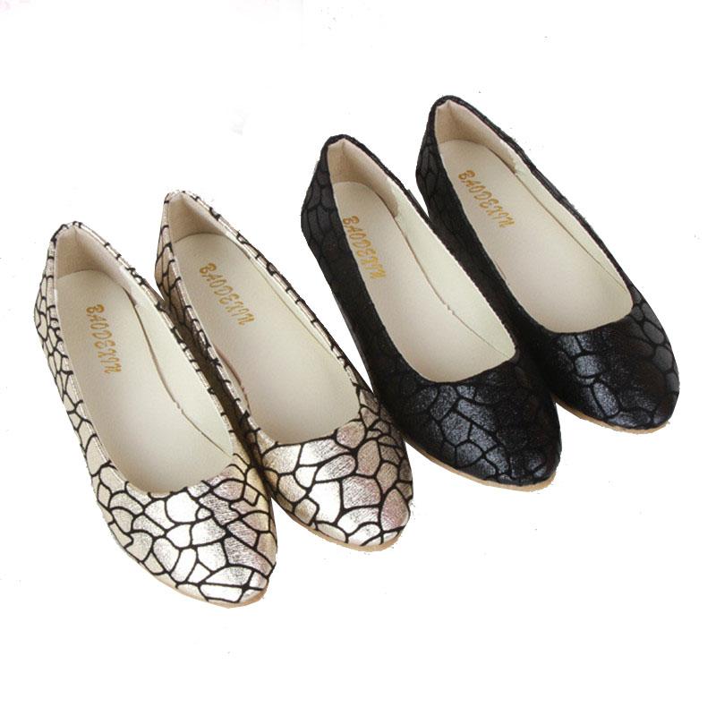 Гаджет  2015 New Women Lady Fashion Plaid Pattern Flats PU Leather Shoes Summer Autumn Casual Snakeskin pattern Craquelure Single Shoes None Обувь