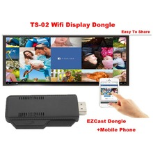 TS-02 Wifi Display Dongle TV Stick EZcast HDMI Media Share Adapter For Smartphone Tablet Support Airplay Miracast Easy For Share