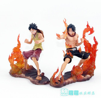 High Quality! Japanese Anime Cartoon One Piece 2 Years Later Luffy VS Ace 14cm PVC Action Collection igures Model Toys<br><br>Aliexpress