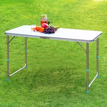 Finether Portable Folding Ultralight Outdoor Table Height-Adjustable Aluminum Table for Dining Picnic Camping BBQ Party Camping(China (Mainland))